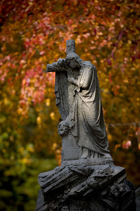 Madonna and the Cross, Bellefontaine Cemetery, Saint Louis, MO //