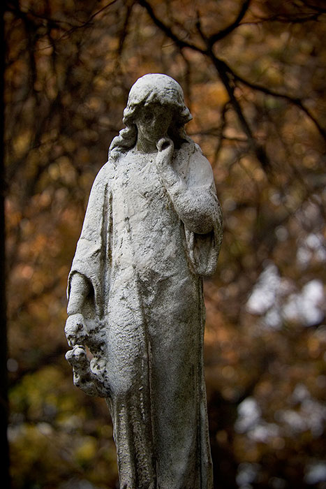 Young Girl in Mourning, Bellefontaine Cemetery, Saint Louis, MO //