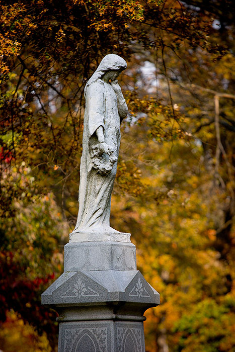 Girl in Repose, Bellefontaine Cemetery, Saint Louis, MO //