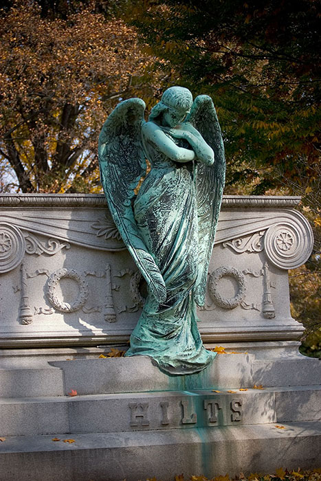 Angel Gaurding the Tomb, Bellefontaine Cemetery, Saint Louis, MO //
