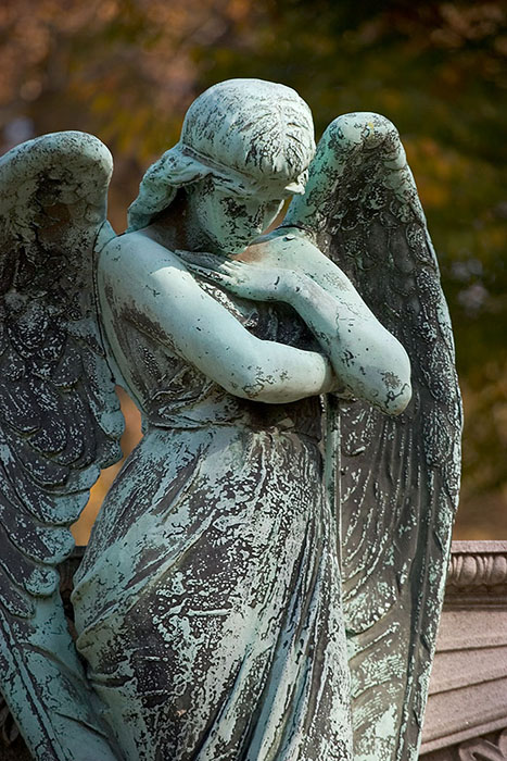 Angel in Repose, Bellefontaine Cemetery, Saint Louis, MO //