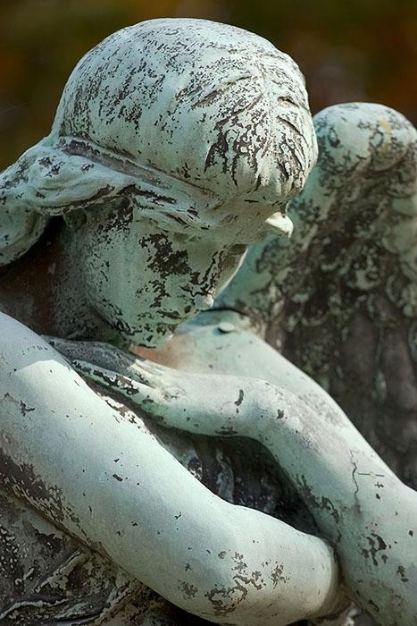 Angel in Repose (closeup), Bellefontaine Cemetery, Saint Louis, MO //