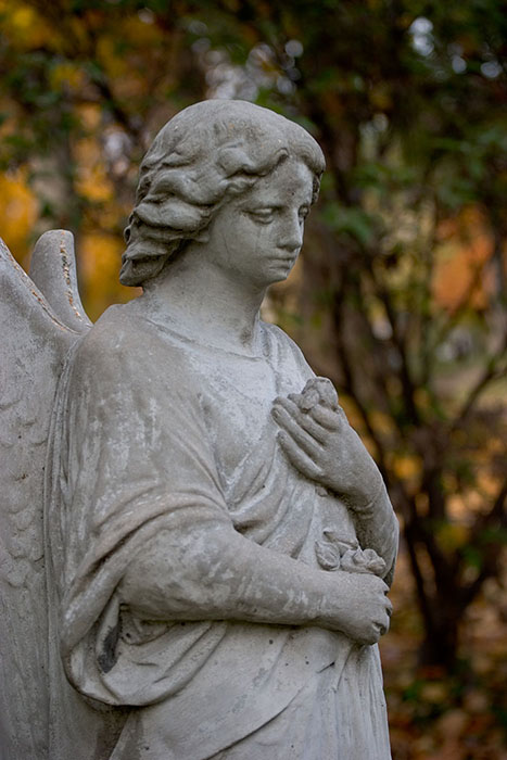 Somber Angel, Bellefontaine Cemetary, Saint Louis, MO //