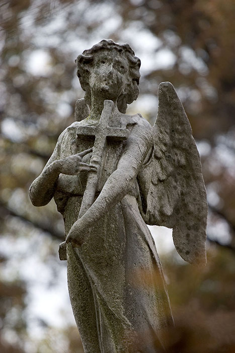 Angel in Mourning (Closeup), Bellefontaine Cemetery, Saint Louis, MO //