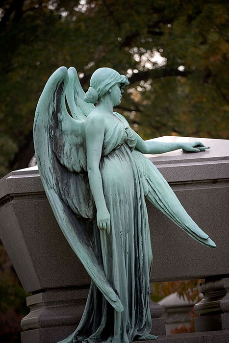 Angel Watching Over Thee, Bellefontaine Cemetery, Saint Louis, MO //