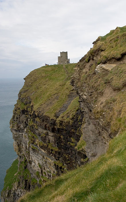 Castle, Cliffs of Moher, County Clare, Ireland //