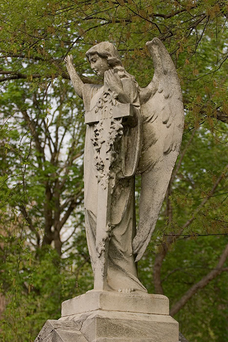 Angel Proclaiming, Calvary Cemetery, Saint Louis, MO //