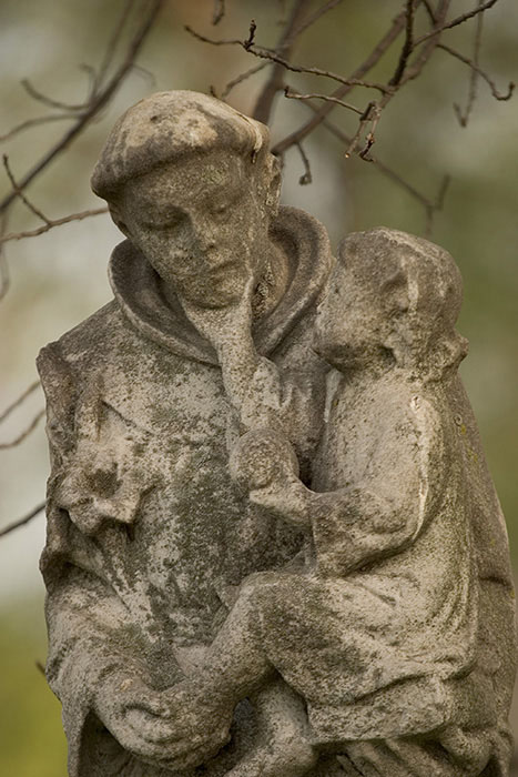 Monk and Child, Calvary Cemetery, Saint Louis, MO //