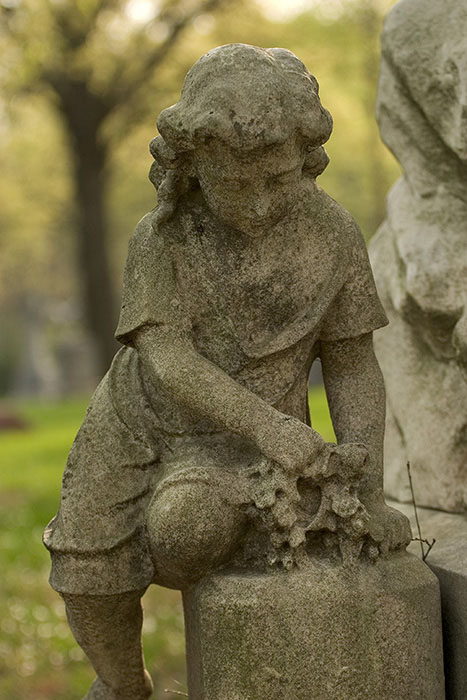 Child Playing, Calvary Cemetery, Saint Louis, MO //