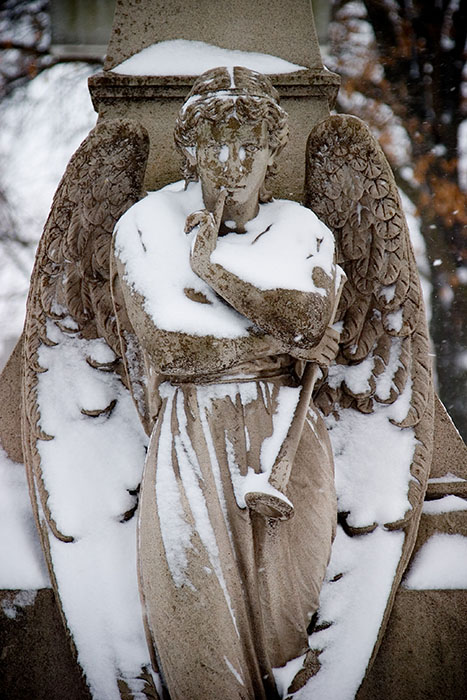 Angel in Repose, Calvary Cemetery, Saint Louis, MO //