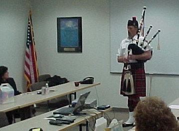 Bagpipes in the Office