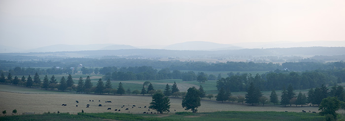 Appalachian Mountains, Looking West, Gettysburg, Pennsylvania //