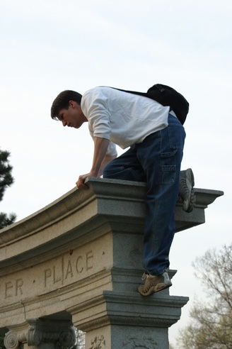 Climbing the Pillars, Forest Park, Saint Louis, Missouri
