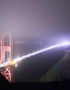 Golden Gate Bridge, After Dark, SF