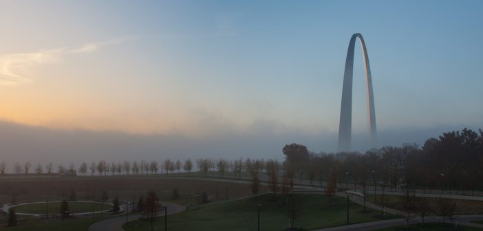 Sunrise, Saint Louis Arch, Saint Louis, Missouri