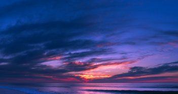 Panorama of Assateague sunrise